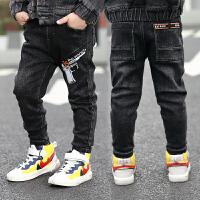男童牛仔裤儿童裤子新款秋冬款中小童男孩秋冬装加绒长裤