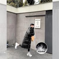 【1折清仓到手价:399元】othermix黑色派克羽绒服女中长款2020年新款冬季韩版宽松白鸭绒外套