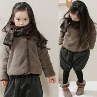 童装女童外套秋冬装新款亲子装男童加厚棉衣大童羊羔绒潮