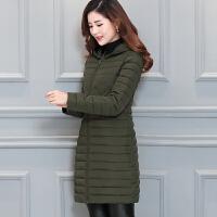 冬季韩版新款棉衣女中长款大码修身轻薄款羽绒中年妈妈装外套