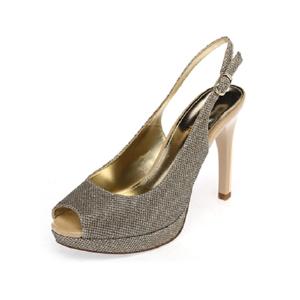 Daphne/达芙妮女鞋夏季优雅金属色细跟高跟凉鞋婚鞋