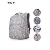 卡拉羊书包女学生背包大容量1-3-4-6初中高中韩版2019新款双肩包