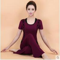 潮新品瑜伽服套装 显瘦三件套短袖女瑜珈服 可礼品卡支付