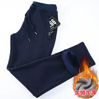 天天冬季加绒加厚运动裤男长裤修身 男裤子韩版潮流新款