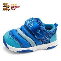 宝宝学步鞋子1-3岁夏季男女童网鞋透气软底鞋