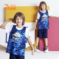 安踏儿童运动套装 男童篮球服速干透气2019夏新款童装中大童夏装