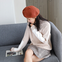 【2件2.5折价88.4元】唐狮秋冬毛衣女高领套头韩版针织衫可爱学生长袖毛衫宽松线衫