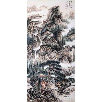 sx0004张大千    《山水》  款   《四海集珍》私人藏中国书画