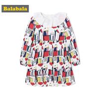 巴拉巴拉童装女童连衣裙小童宝宝裙子长袖秋装2018新款儿童公主裙