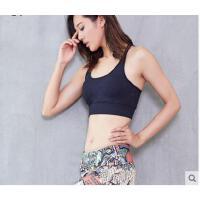 交叉美背跑步防下垂定型文胸女士运动瑜伽背心防震健身内衣