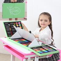 儿童水彩笔画画套装女孩幼儿园工具绘画笔礼盒小学生美术学习礼物 木头画架128件绿色 配礼袋画本