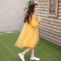 女童春装连衣裙新款儿童装春季纯棉裙子韩版中大童洋气公主裙