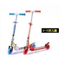 豪华二轮滑板车5-15岁成人闪光滑板车二轮两轮滑板车全铝合金减震儿童滑板车