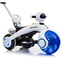 儿童电动车可坐人宝宝童车电瓶车玩具车圣诞礼物摩托车三轮太空车
