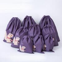 旅行收纳袋套装束口袋防水洗漱包装毛巾内衣鞋子收纳包抽绳袋