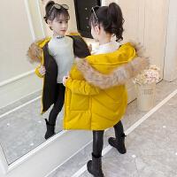 女童棉衣洋气网红宝宝羽绒棉袄服儿童外套冬装中长款