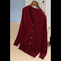 新款秋冬季羊绒衫男士V领长袖加厚开衫羊绒衫修身打底毛衣针织衫