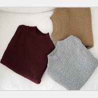 冬季韩版套头长袖修身针织衫半高领百搭打底衫长袖黑色毛衣女