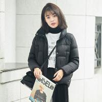 高梵2017新款短款羽绒服女 个性时尚潮流百搭短款冬装外套女