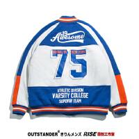 牌街头美国拼色 棒球服男棉衣青年运动夹克外套