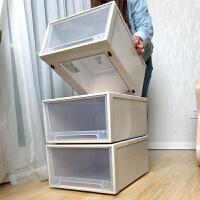收纳箱抽屉式塑料收纳盒整理箱特大衣服家用衣柜储物箱收纳柜收纳 p1e