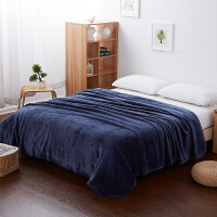 单层法兰绒毛毯空调毯午睡盖毯学生单人双人珊瑚绒毯子J 200*230cm (一等品)