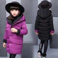 女童时尚棉衣外套冬装中大童女孩两面穿棉袄