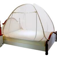 蒙古包蚊帐三开门1.8m床双人家用免安装网红蚊帐拉链
