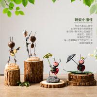 创意蚂蚁可爱小摆件家居房间装饰品客厅电视柜桌面工艺品田园摆设
