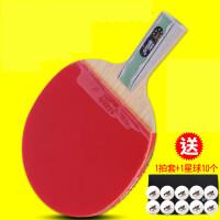 乒乓球三星3赛顶40+赛福新材料有缝球2星二比赛球 5_A6007长反胶直拍 单只装-赠拍套+乒乓球