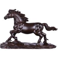 木雕马摆件 木马到成功生肖马办公室红木雕刻风水工艺礼品