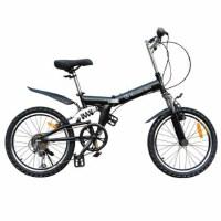 户外休闲运动健身4S奔驰型20寸自行车山地车6变速单车 折叠车 黑色 20寸
