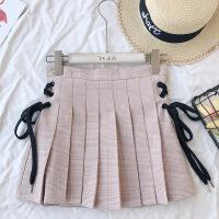 2018新款格子裤裙女春季高腰包臀半身裙时尚短裙A字裙