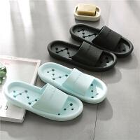 浴室拖鞋防滑洗澡漏水男女夏天厚底室内夏季漏水速干浴室情侣拖鞋