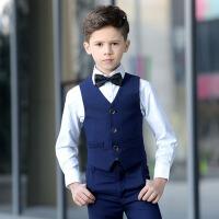 男童马甲套装 花童礼服男 儿童礼服 合唱钢琴演出服蓝色