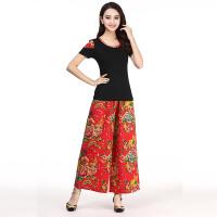 20180411073537377广场舞服装套装新款短袖舞蹈服装女舞蹈裙裤中老年跳舞衣服