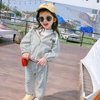 女童宝宝运动休闲套装时髦儿童春装新款