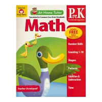 【首页抢券300-100】Evan Moor At-Home Tutor Math Pre K 家中导师学龄前数学练习册