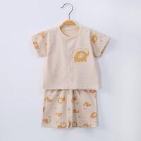 贝萌 纯棉宝宝短袖短裤薄款套装 新生儿夏季彩棉婴儿衣服用品圆领卡通