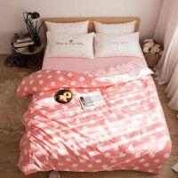 可爱卡通四件套棉1.5m床简约小清新棉床上用品三件套床单床笠