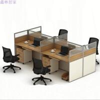 办公家具职员办公桌4人位组合屏风卡座员工位办公室电脑桌椅
