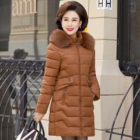 羽绒服 新品女中老年女装冬装棉衣40岁50妈妈羽绒中长款外套中年人冬季棉袄