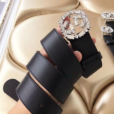 2018年新款真皮女士水钻G扣经典款皮带腰带 3.5cm 95cm 发货周期:一般在付款后2-90天左右发货,具体发货时间请以与客服协商的时间为准