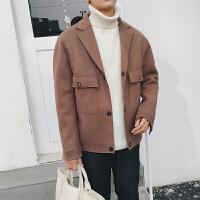 冬季毛呢大衣男短款青年韩版修身风衣韩国英伦妮子大衣外套加厚潮