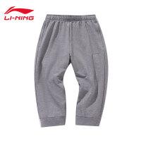 李宁七分卫裤男士新款运动生活系列休闲短装夏季针织运动裤AKQN039