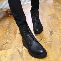 冬季英伦高帮军靴男加绒保暖皮靴棉鞋男士马丁靴短靴高邦男靴子潮