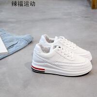 小白鞋女秋季新款女鞋厚底百搭网鞋松糕运动休闲鞋潮