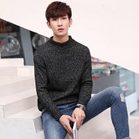 男士纯色针织毛衣韩版半高领线衣秋冬季打底衫加厚外套上衣潮男装