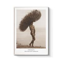 现代简约玄关装饰画竖黑白摄影写真客厅挂画北欧风格壁画人像艺术 70x100cm嵌框 单幅价格 黑色