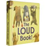 英文原版绘本 The Loud Book 好大声的书 蒂波拉.安德伍德 大开本纸板书 儿童启蒙图画故事书